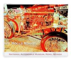 1921 Rolls Royce Classic Automobile Fleece Blanket