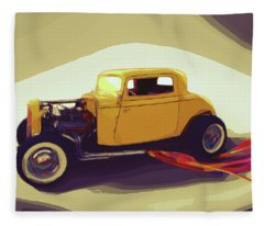 1932 Ford Coupe Fleece Blanket
