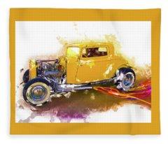 1932 Ford Hotrod Fleece Blanket