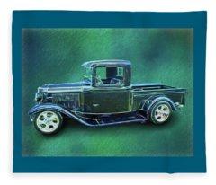 1934 Ford Pickup Fleece Blanket