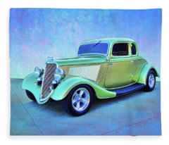 1934 Green Ford Fleece Blanket