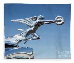 1934 Packard Automobile Hood Ornament Fleece Blanket