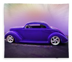 1937 Ford Coupe Fleece Blanket