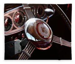 1937 Vintage Model 1508 Steering Wheel Fleece Blanket