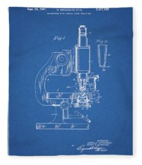 1947 Microscope Patent  Fleece Blanket