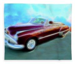 1949  Buick Convertable Fleece Blanket