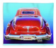 1949 Buick Cruiser Fleece Blanket