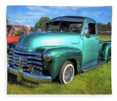 1950 Chevy Pickup Lowrider Bomb Fleece Blanket