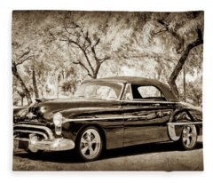 1950 Oldsmobile 88 -004bwcl Fleece Blanket