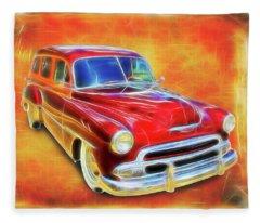 1951 Chevy Woody Fleece Blanket