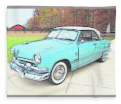 1951 Ford Fleece Blanket