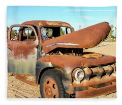 1952 Ford F5 Truck Fleece Blanket