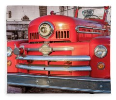1952 Seagrave Fire Truck  Fleece Blanket