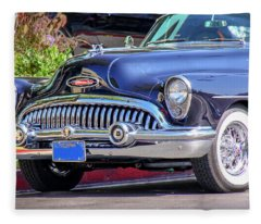 1953 Buick Skylark - Chrome And Grill Fleece Blanket