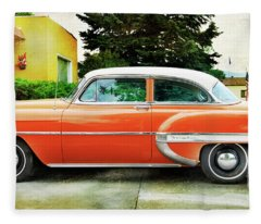 1954 Belair Chevrolet 2 Fleece Blanket