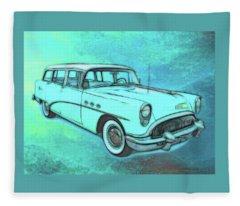 1954 Buick Wagon Fleece Blanket