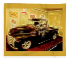1955 Chevy Truck Fleece Blanket