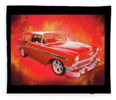 1956 Chevy Nomad Fleece Blanket