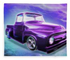1956 Ford Truck Fleece Blanket