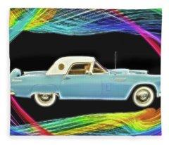 1956 Thunderbird Fleece Blanket