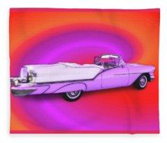 1957 Oldsmobile 98 Starfire Fleece Blanket