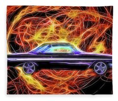 1961 Chevy Impala Fleece Blanket