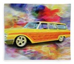 1961 Ford Wagon Fleece Blanket