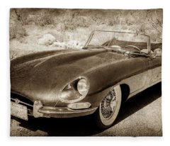 1963 Jaguar Xke Roadster-111s Fleece Blanket