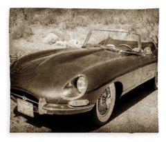 1963 Jaguar Xke Roadster-111scl Fleece Blanket