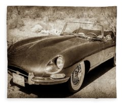 1963 Jaguar Xke Roadster-111scl Fleece Blanket