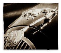 1964 Jaguar Mk2 Saloon Hood Ornament And Emblem-1421bscl Fleece Blanket