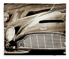 1965 Aston Martin Db6 Short Chassis Volante Grille-0970s2 Fleece Blanket