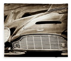 1965 Aston Martin Db6 Short Chassis Volante Grille-0970s3 Fleece Blanket