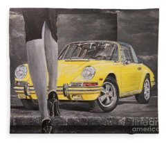 1968 Porsche 911 Targa Fleece Blanket