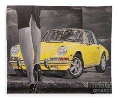 1968 Porsche 911 Targa Fleece Blanket