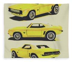 1969 Camaro Fleece Blanket