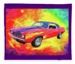 1969 Flaming Z Fleece Blanket