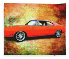 1970 Dodge Charger Fleece Blanket