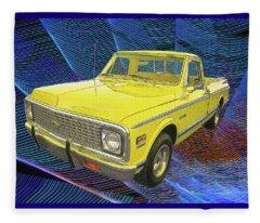 1972 Chevy Pickup Truck Fleece Blanket