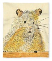 1979 Hamster Sketch Fleece Blanket