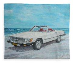 1979 Mercedes 450 Sl Fleece Blanket
