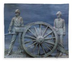 1st Pennsylvania Artillery Gettysburg  Fleece Blanket