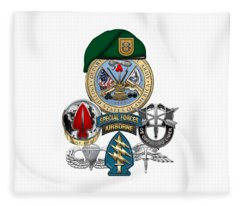1st Special Forces Group - Green Berets Special Edition Fleece Blanket