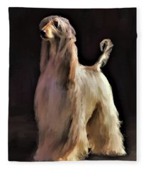 Afghan Hound Fleece Blanket