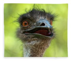 Australian Emu Outdoors Fleece Blanket