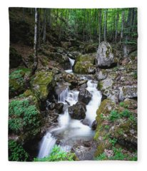 Bela River, Balkan Mountain Fleece Blanket