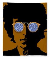 Bob Dylan Blowin In The Wind Fleece Blanket