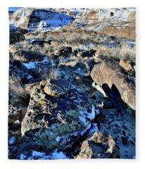 Boulder Field Of Ruby Mountain Fleece Blanket