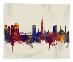 Cairo Egypt Skyline Fleece Blanket