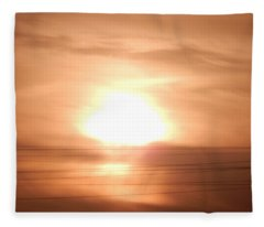Dawn Over High-rise Buildings In The City Fleece Blanket